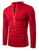 hesapli Erkek Kapşonluları ve Svetşörtleri-Erkek Polo Kırk Yama, Solid Temel Siyah / Beyaz / Kırmızı Siyah