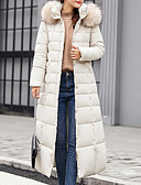 povoljno Women's Down Coats-Žene Jednobojni Jakna od perja, Poliester Crn / Obala / Vojska Green M / L / XL