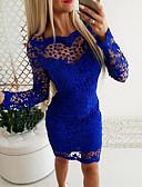 hesapli Romantik Dantel-Kadın's Temel Kılıf Elbise - Geometrik Diz üstü