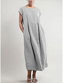 hesapli Kadın Elbiseleri-Kadın's Büyük Bedenler Temel Salaş Kombinezon Elbise - Solid Maksi