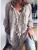 billige Dame Trench Coats-Skjorte Dame - Ensfarget Mørkegrå