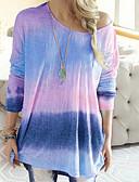 billige T-skjorter til damer-T-skjorte Dame - Fargeblokk Grunnleggende Rosa