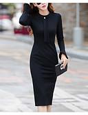 זול שמלות ערב-עד הברך אחיד - שמלה נדן אלגנטית בגדי ריקוד נשים