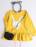 povoljno Džemperi i kardigani za djevojčice-Djeca Djevojčice Osnovni Print Dugih rukava Bluza Svjetloplav