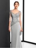 povoljno Ženske haljine-Kroj uz tijelo V izrez Do poda Šifon Formalna večer Haljina s Aplikacije po LAN TING Express