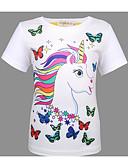 povoljno Majice za djevojčice-Djeca Djevojčice Osnovni Print Kratkih rukava Majica s kratkim rukavima Obala
