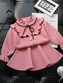povoljno Džemperi i kardigani za djevojčice-Dijete koje je tek prohodalo Djevojčice Aktivan Jednobojni Dugih rukava Komplet odjeće Blushing Pink