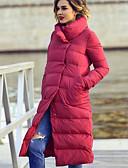povoljno Women's Down Coats-Žene Jednobojni Padded, Poliester Crn / Red M / L / XL