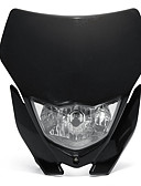 cheap Men's Jackets & Coats-1pcs 12V 35W Motorcycle H4 Headlight Fairing Kit Dirt Bike Off-Road Headlamp Light Universal - Black