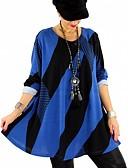 זול חולצה-פסים חולצה - בגדי ריקוד נשים כחול בהיר