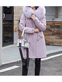 povoljno Women's Down Coats-Žene Jednobojni Padded, Poliester Crn / Blushing Pink / Plava S / M / L