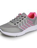 זול סטים של ביגוד לבנות-בגדי ריקוד נשים נעלי אתלטיקה שטוח בוהן עגולה רשת / PU ספורטיבי ריצה סתיו שחור / אדום / אפור / קולור בלוק