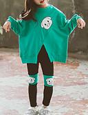 povoljno Majice s kapuljačama i trenirke za djevojčice-Djeca Dijete koje je tek prohodalo Djevojčice Osnovni Ulični šik Izlasci Ležerno / za svaki dan Print S izrezom Print Dugih rukava Kratka Kratak Komplet odjeće Fuksija