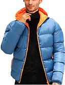 cheap Men's Jackets & Coats-Men's Solid Colored Regular Padded, POLY / Poly&Cotton Blend Orange / Blue / Red US32 / UK32 / EU40 / US34 / UK34 / EU42 / US36 / UK36 / EU44