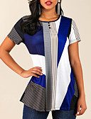 povoljno Bluza-Majica s rukavima Žene Dnevno Color block Plava