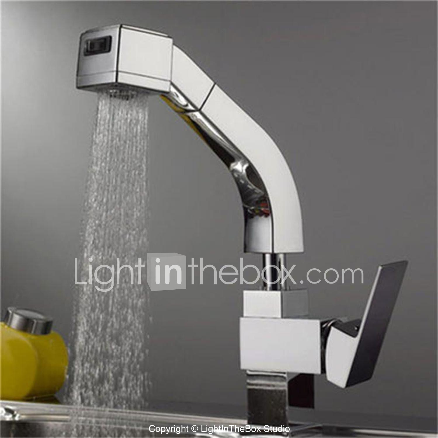 Kitchen Faucet Single Handle One Hole Chrome Pull Out Pull Down Deck Mounted Contemporary Kitchen Taps Brass