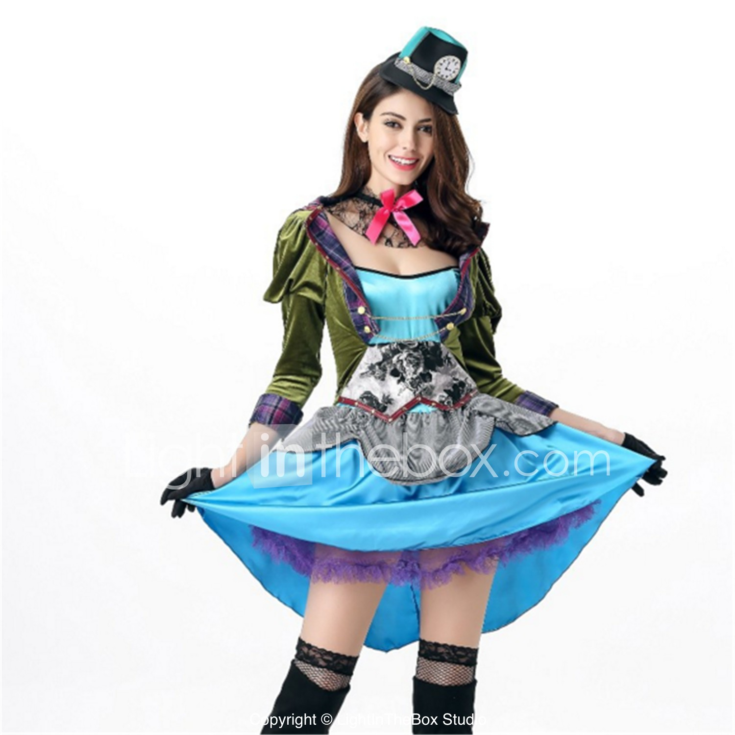 Vintage Halloween Costumes In A Box.Mad Hatter Cosplay Costume Adults Halloween Festival Holiday