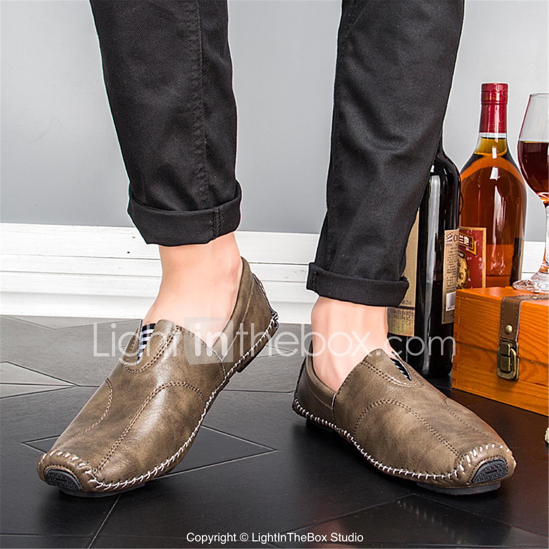 Hombre Zapatos Malla Verano Confort Zapatos de taco bajo y Slip-On Negro / Rojo / Negro / Amarillo goL4d6uZ5A