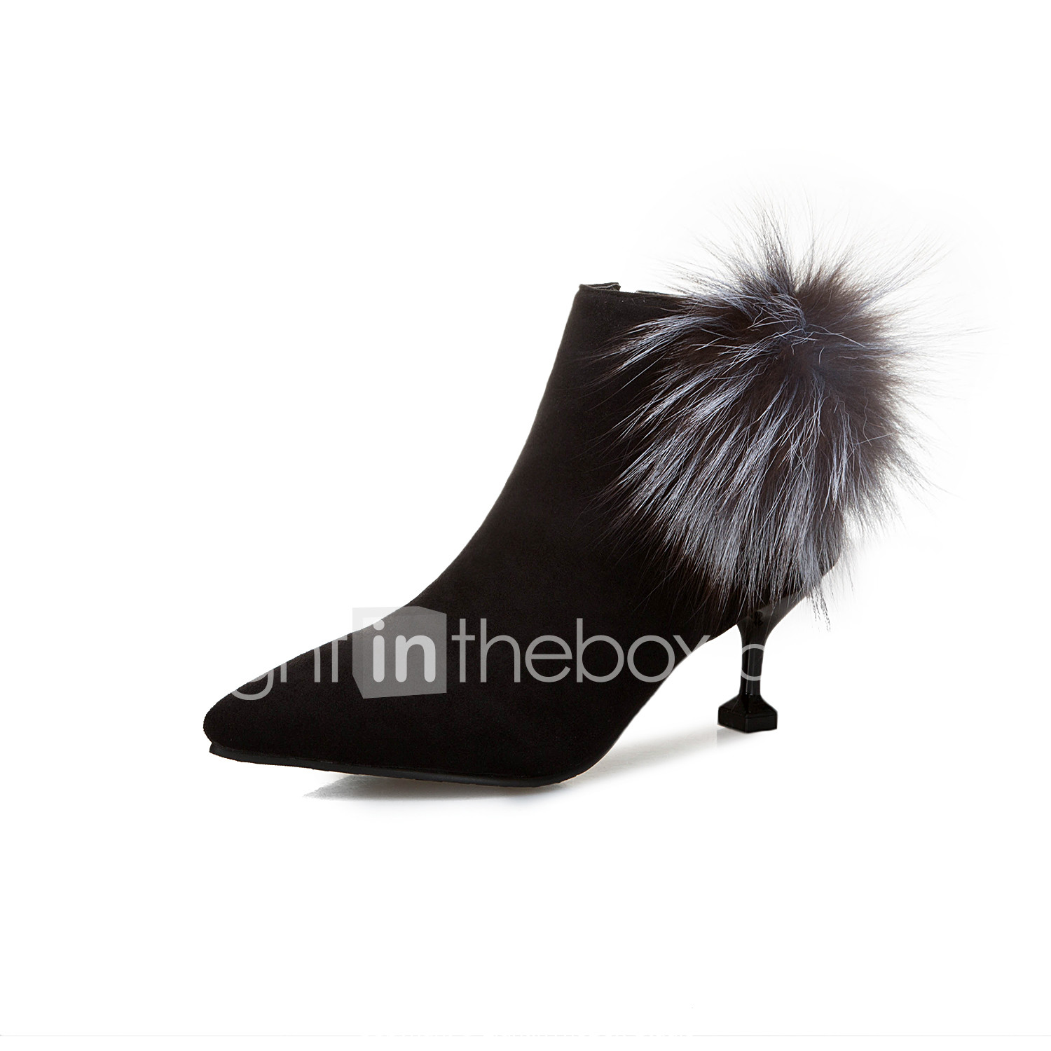 b1e3f11b534 Women's Boots Kitten Heel Pointed Toe Faux Leather Booties / Ankle ...