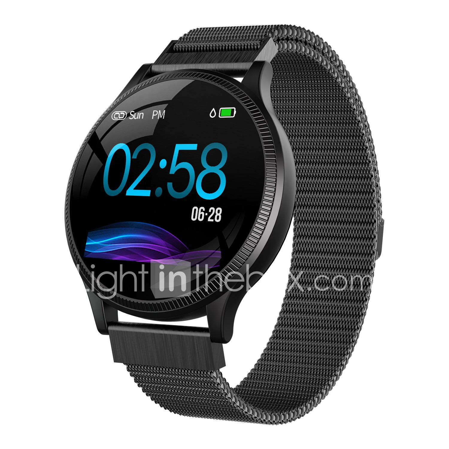 bbb481bc6a2b Indear MK08 Men Women Smartwatch Android iOS Bluetooth Smart Sports  Waterproof Heart Rate Monitor Blood Pressure Measurement Pedometer Call  Reminder ...