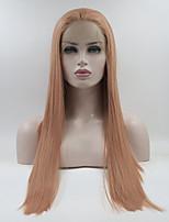 economico Parrucche e extension-Parrucche Lace Front Sintetiche Liscio Rosa  Parte libera Rosa 180% 00298388cd62