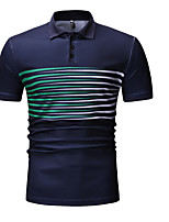olcso Férfi pólók-férfi ázsiai méretű polo-csíkos ing gallér ddd28e8a6c