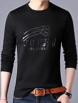 olcso Férfi pólók és pulóverek-férfi hosszú ujjú vékony pulóver - fekete  színű 9c8b561838
