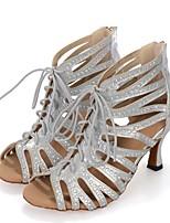 f3f0f58ea7c1 cheap Dance Shoes-Women  039 s Latin Shoes Synthetics Heel Splicing Flared  Heel