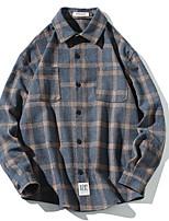 fdf9ab1033 baratos Camisas Masculinas-Homens Tamanhos Grandes Camisa Social Listrado  Novo