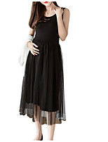 19abf19747c2 Χαμηλού Κόστους Ρούχα Εγκυμοσύνης-Γυναικεία Βασικό Γραμμή Α Θήκη Φόρεμα -  Μονόχρωμο Μίντι