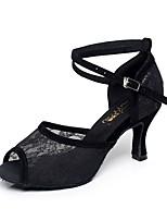 20826f778b baratos Sapatos de Dança-Mulheres Sapatos de Dança Latina Renda Salto Renda  Salto Alto Magro