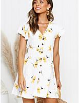 28d8d984f159 levne Dámské šaty-Dámské Základní Elegantní A Line Šaty - Květinový