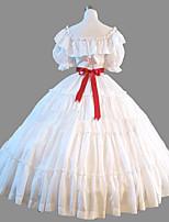 c527b67e7c3c98 voordelige Historische  amp  vintage kostuums-Prinses Rococo Victoriaans  Kostuum Dames Jurken Feestkostuum Kostuum Wit