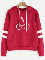 260bedab6fc0 Χαμηλού Κόστους Γυναικείες Μπλούζες με Κουκούλα  amp  Φούτερ-Γυναικεία  Καθημερινό   χαριτωμένο στυλ Φούτερ