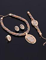 a46acb8c6ddc abordables Joyería para Boda y Fiesta-Mujer Oro Trenzado Conjunto de joyas  Chapado en oro