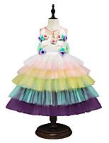 f4125071f1879fd Недорогие Детские праздничные платья-Принцесса Midi Детское праздничное  платье - Шифон / Тюль Без рукавов
