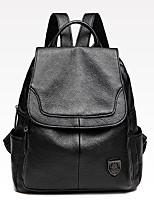 3216d961ebbf olcso Hátitáskák-Női Cipzár hátizsák PU Tömör szín Fekete / Ősz & tél