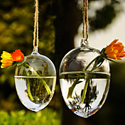 芸術ぶら下がっ水滴形のガラスの花瓶