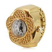 Mulheres Relógio de Moda Japanês Quartzo Lega Banda Flor Dourada