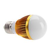 e26 / e27 led bulbos de globo 3 de alta potencia led 500lm blanco cálido 3000k ca 100-240v