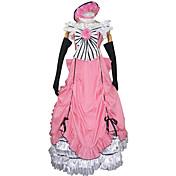 Inspirado por Black Butler Ciel Phantomhive Animé Disfraces de cosplay Trajes Cosplay Vestidos Retazos Sin Mangas Vestido Guantes Lazo