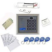 Stand Alone Access Controller Kits (Electric Bolt, 10 EM-ID Card, fuente de alimentación)