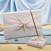 Libro de Visitas Pluma Poliéster Tema PlayaWithAsteroideos y Concha Libro de Invitados