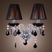 Lámpara de pared de Cristal de Tela con 2 Bombillas - MAMARONECK
