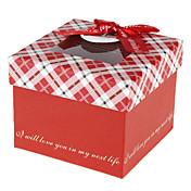 cuboide tarjeta papel favor titular con arco cajas de regalo-1 favores de la boda