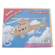 Puzzles 3D Puzzles de Madera Helicóptero Divertido Madera Clásico Niños Regalo