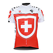 Kooplus Maillot de Ciclismo Hombre Manga Corta Bicicleta Camiseta/Maillot Top Cremallera impermeable Cremallera delantera Listo para