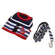 犬用品 ハーネス / リード 調整可能/引き込み式 ブルー 織物