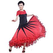 ボールルームのダンススカート女性のトレーニングviscose自然なエレガントなスタイル