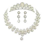 Mujer Cristal / Perla artificial Conjunto de joyas - Otros Pearl White